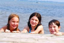 Children enjoying Jewish summer camp
