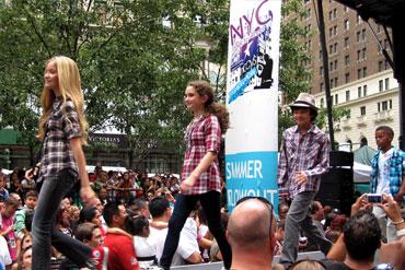 Fashion show at summer fashion camp for kids & teens