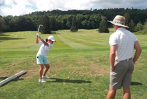 Golf instruction while at camp
