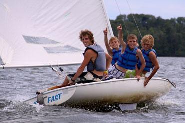 Learning tacking while sailing